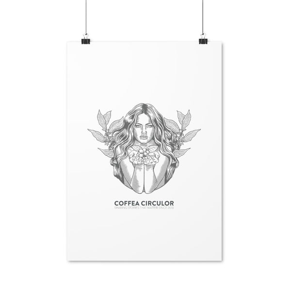Coffea Circulor Coffea Circulor Angel Poster