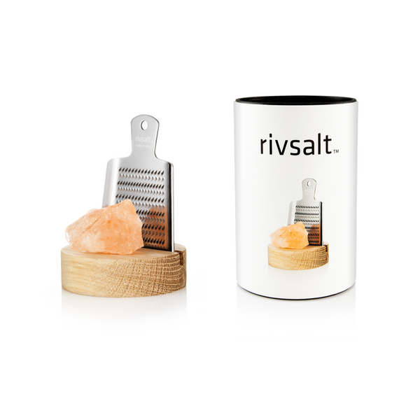 RivSalt RivSalt Original Himalayan Rock Salt With Japanese Grater & Stand