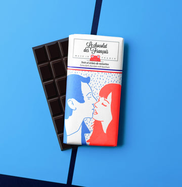 Le Chocolat Des Français Organic Dark Chocolate With Hazelnuts 80g Bar (71% Cocoa)