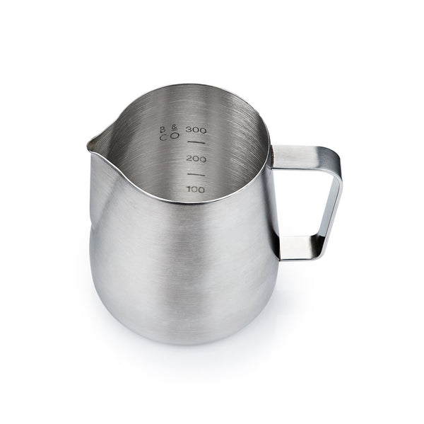 Barista & Co Brushed Steel Milk Pitcher Jug (420ml)