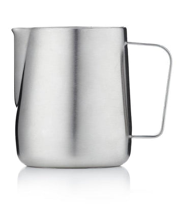 Barista & Co Brushed Steel Milk Pitcher Jug (600ml)