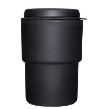 Rivers Black Wallmug Demita Reusable Coffee Cup (Flat White Size - 300ml)