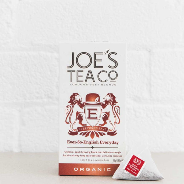 Joes Tea Co Ever-So-English Everyday Black Tea (15 Pyramid Bags)