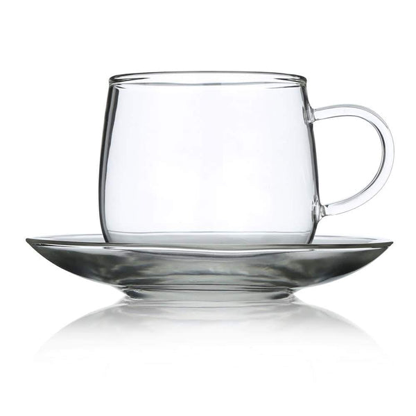Tea Repertoire Set Of 4 Glass Cup & Saucer
