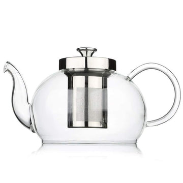 Tea Repertoire Mouth-Blown Glass Teapot With Cups & Saucers Luxury Tea Set (For 6)