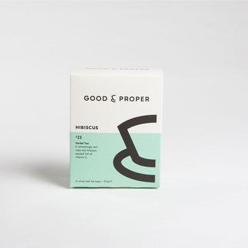 Good & Proper Tea Hibiscus Tea Bags Herbal Tea