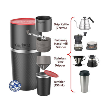 Cafflano All In One Portable Cafflano Klassic Pour Over Coffee Maker