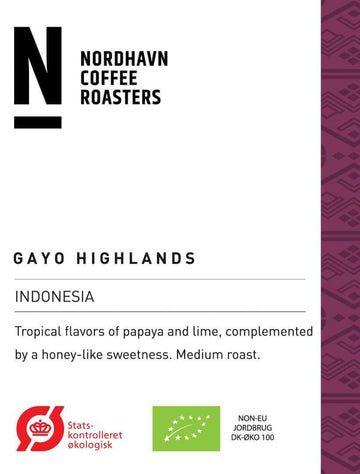 Nordhavn Indonesia Gayo Highlands Coffee (Organic)