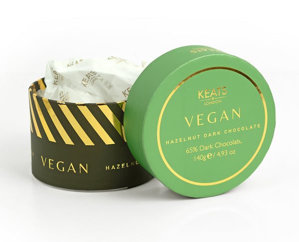 KEATS Vegan Hazelnut Dark Chocolate Tub Gift Box