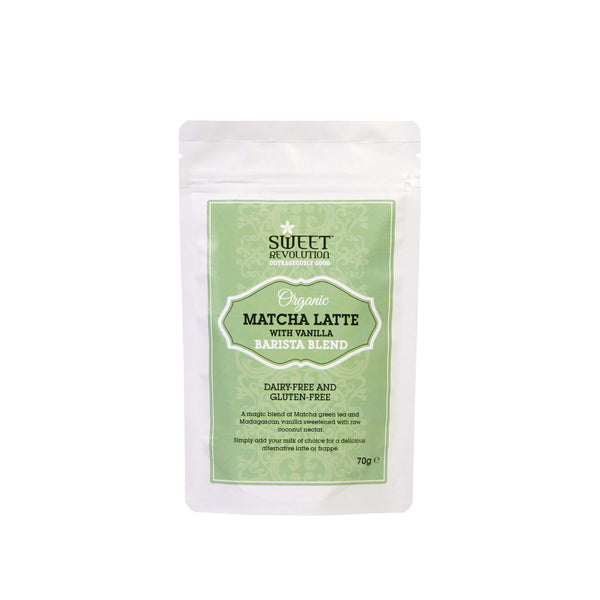 Sweet Revolution Organic Matcha Latte with Vanilla (For Milk Drinks)