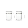 Barista & Co Electric Steel & Glass Coffee Cups with Metal Handle (Set of Two)