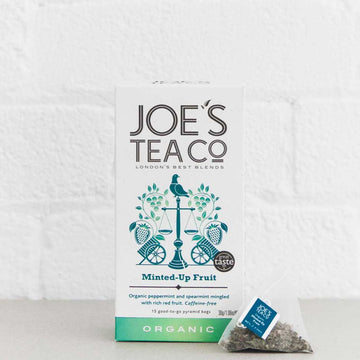Joes Tea Co Minted-Up Fruit Herbal Tea (15 Pyramid Bags)