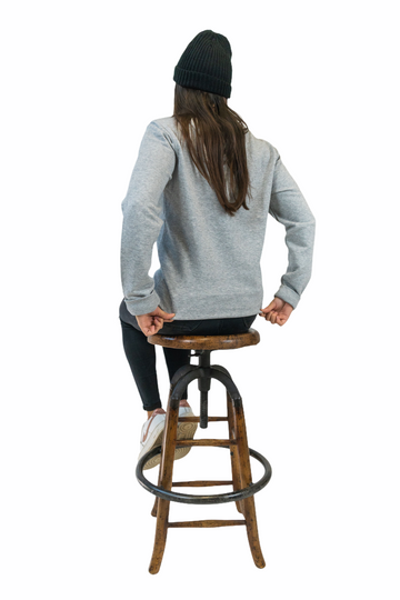 Ue Ue Embroidered Grey Sustainable Sweater
