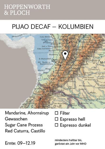 Hoppenworth & Ploch Colombia Pijao Decaf Coffee