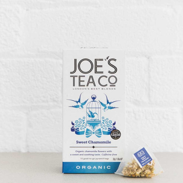 Joes Tea Co Sweet Chamomile Herbal Tea (15 Pyramid Bags)