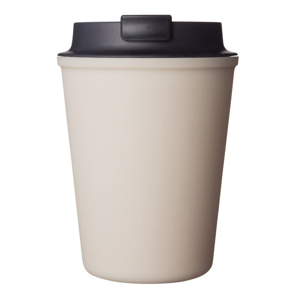 Rivers Beige Wallmug Sleek Reusable Travel Coffee Cup (Cappuccino Size - 350ml)