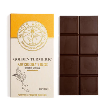 Wunder Workshop Raw Chocolate Bliss Bar - Golden Turmeric
