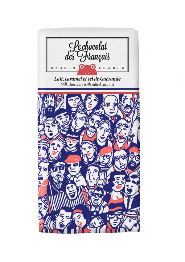 Le Chocolat Des Français Organic Milk Chocolate With Salted Caramel 80g Bar (41% Cocoa)