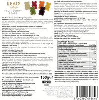 KEATS Gourmet Vegan Gummies Gift Box (Fruit Gummy Bears)