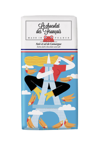 Le Chocolat Des Français Organic Dark Chocolate with Salt 80g Bar (71% Cocoa)