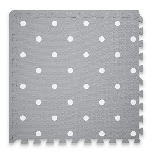 Premium Baby Playmat in Grey Circle Design