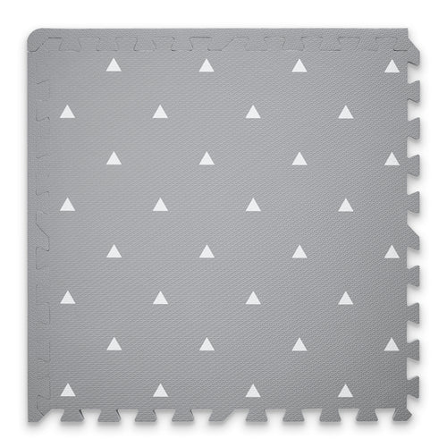 Premium Baby Playmat in Grey Triangle Design