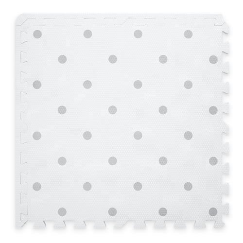 Premium Baby Playmat in White Circle Design