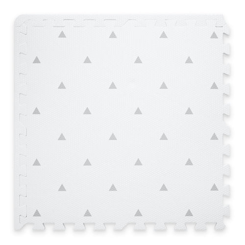 Premium Baby Playmat in White Triangle Design