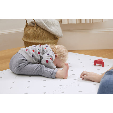 Triangle Playmat Set in White
