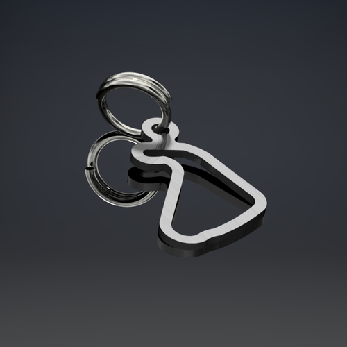 Silverstone (National) Keyring