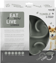 Eat Slow Live Longer Tumble Feeder Grey