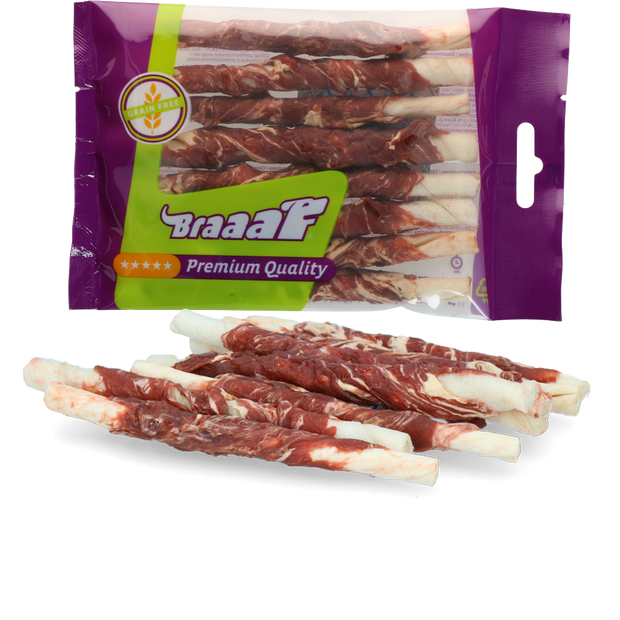 Braaaf Rollsticks 12 cm lamb and fish