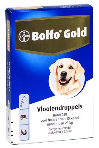 BOLFO GOLD HOND VLOOIENDRUPPELS 250 2 PIPET