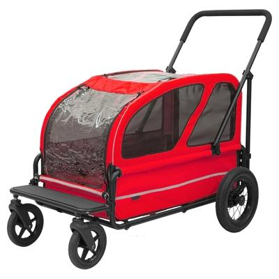 AIRBUGGY HONDENBUGGY CARRIAGE BERRY ROOD 127X70X100 CM