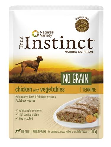 TRUE INSTINCT POUCH NO GRAIN MEDIUM ADULT CHICKEN TERRINE 300 GR