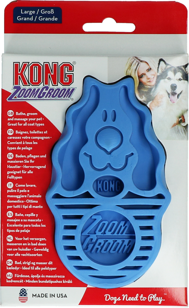 Kong ZoomGroom Boysenberry Large