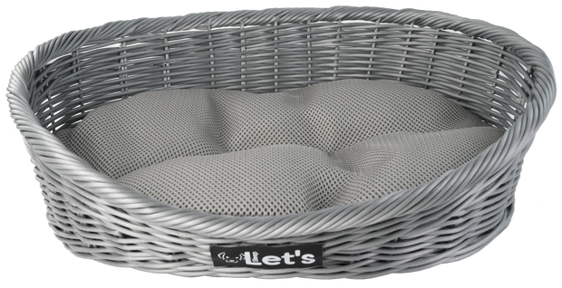 Let's Sleep Pet Bed M Grey