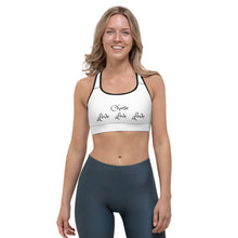 "Load image into Gallery viewer, Sports Bra, ""CHOOSE LOVE"" (on Front) Plus ""Choose Kindness"" (on Back)"