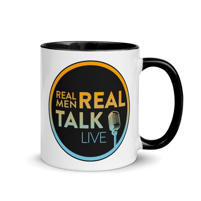 Real Men Real Talk Mug with Color Inside, 11 oz
