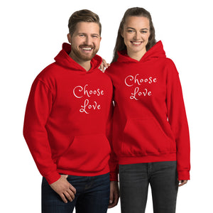 "Women's & Men's Hoodie, ""CHOOSE LOVE"""