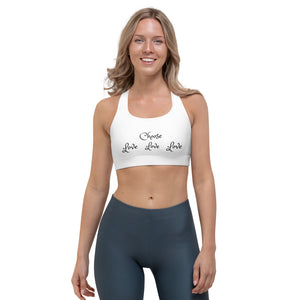 "Sports Bra, ""CHOOSE LOVE"" (on Front) Plus ""Choose Kindness"" (on Back)"