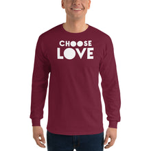 "Load image into Gallery viewer, Men's Long Sleeve T-Shirt, ""CHOOSE LOVE"""