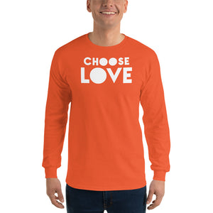 "Men's Long Sleeve T-Shirt, ""CHOOSE LOVE"""