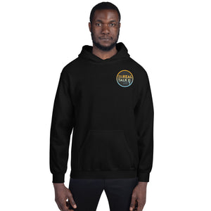 "Women's & Men's Hoodie, ""Real Men Real Talk Live"""