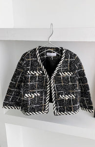 CC Tweed Jacket - Black