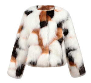 Wild & Free Faux Fur Jacket - Multi