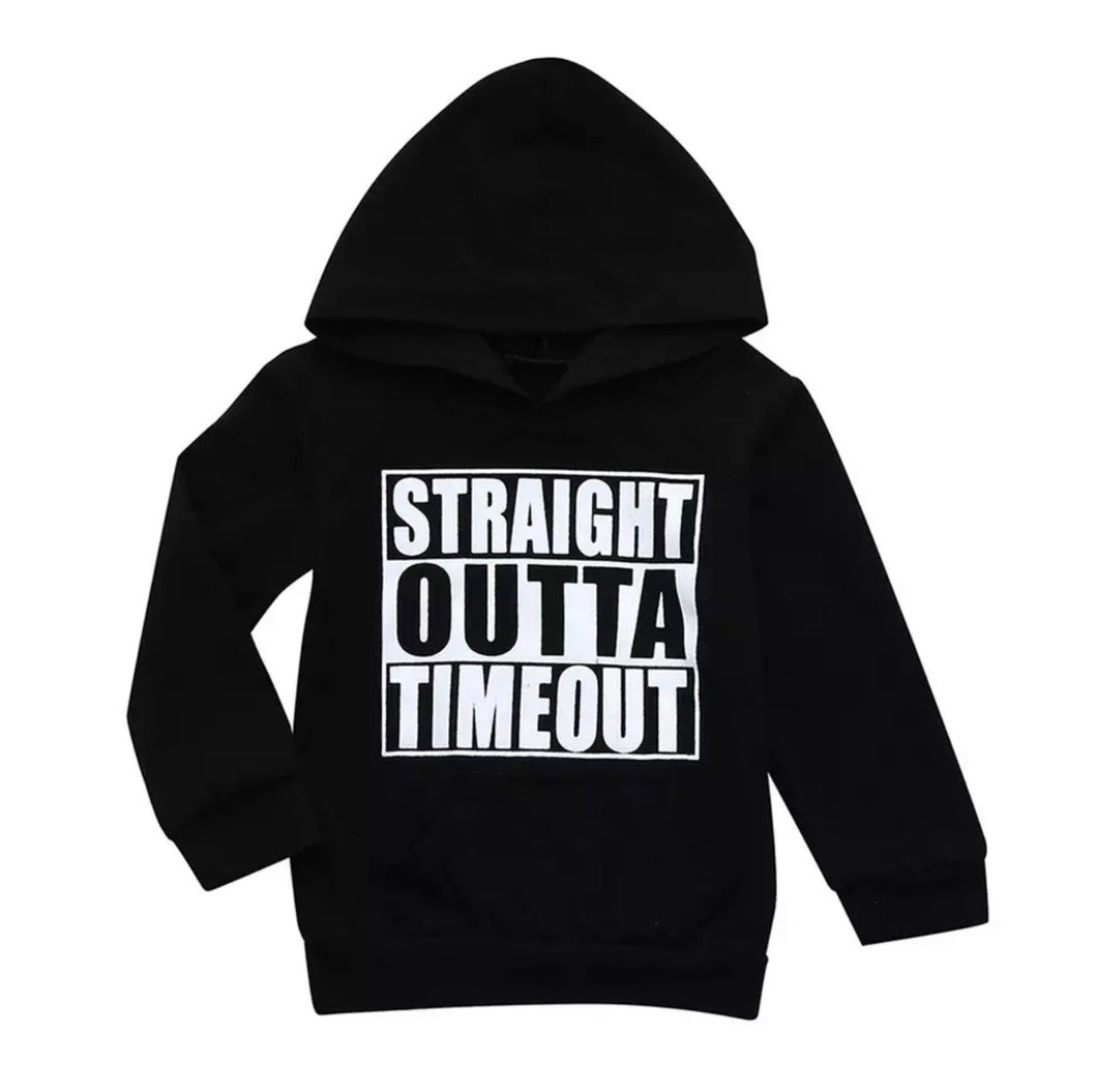 Time Out Hoodie - Black