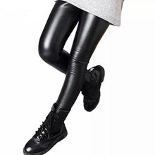 Load image into Gallery viewer, Faux Leather Leggings - Black