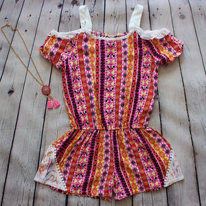 Dream Catcher Romper - Fuschia