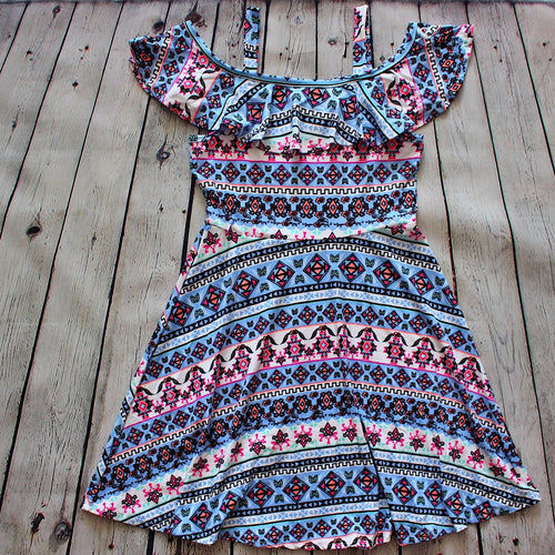 Malani Tribal Dress - Baby Blue